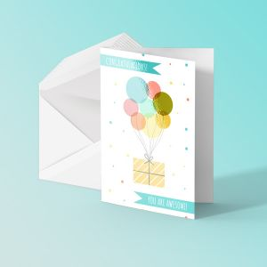 A5 Greeting Cards - Laminated